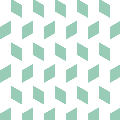 rhombus bomb in jade fabric by chantae on Spoonflower - custom fabric
