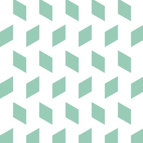 rhombus bomb in jade fabric by chantae on Spoonflower - custom fabric