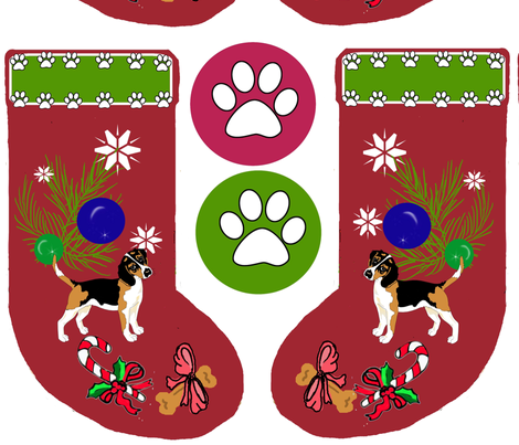 beagle_cut_and_sew_Christmas Stocking fabric by dogdaze_ on Spoonflower - custom fabric