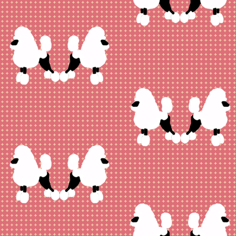 Poodles fabric by cine on Spoonflower - custom fabric