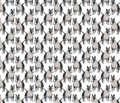 Old English Bull Terrier fabric by jenniferpitchers on Spoonflower - custom fabric