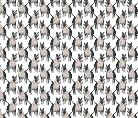 Old English Bull Terrier fabric by jenniferpitchers on Spoonflower - custom fabric