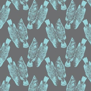 Fish in Dark Grey and Blue