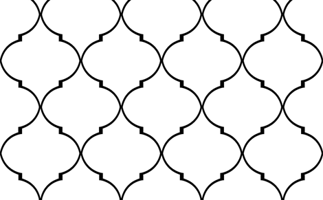 Kate Trellis in Classic Black fabric by sparrowsong on Spoonflower - custom fabric