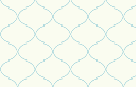 Kate Trellis in Aquamarine fabric by sparrowsong on Spoonflower - custom fabric