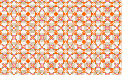 granny orange fabric by myracle on Spoonflower - custom fabric