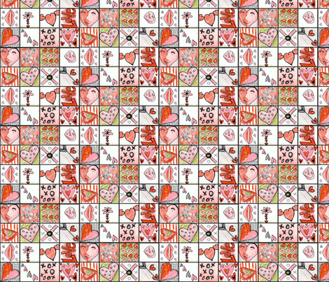 Valentine Grid fabric by beckarahn on Spoonflower - custom fabric