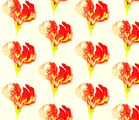 Flame Lily fabric by katharina~michaela on Spoonflower - custom fabric