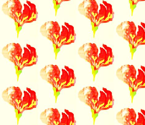 Flame Lily fabric by katharina~michaela on Spoonflower - custom fabric