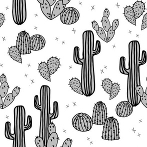 Cactus & Prickly Pears - Slate Grey by Andrea Lauren