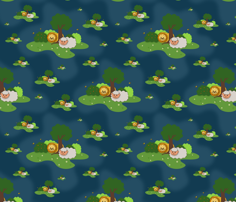 Dream of peace fabric by ellila on Spoonflower - custom fabric