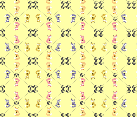 hot-foxes-fabric fabric by kfrogb on Spoonflower - custom fabric