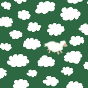 we all like sheep in fields of green