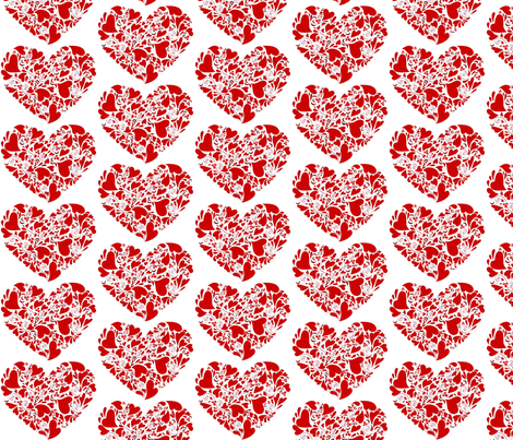 Valentine Hearts fabric by reganraff on Spoonflower - custom fabric