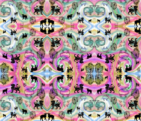March Kaleidoscope fabric by ravynscache on Spoonflower - custom fabric
