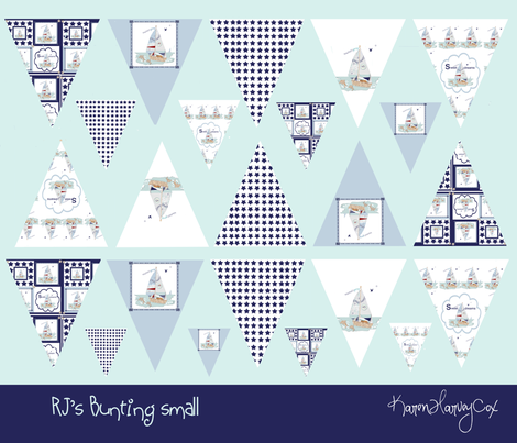 RJ's Bunting Small fabric by karenharveycox on Spoonflower - custom fabric
