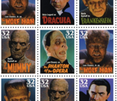 Classic Movie Monsters Stamps - Large
