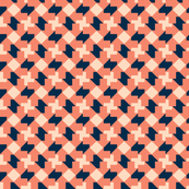 Coral Navy Tesselate
