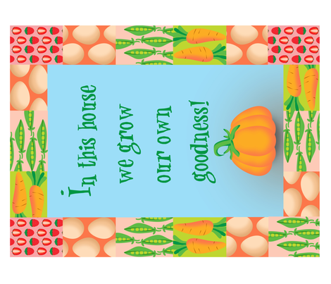 In This House...(teatowel or decal) fabric by delsie on Spoonflower - custom fabric