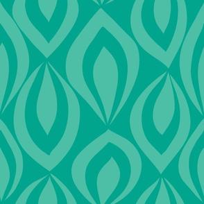Leafyrific-turq on emerald