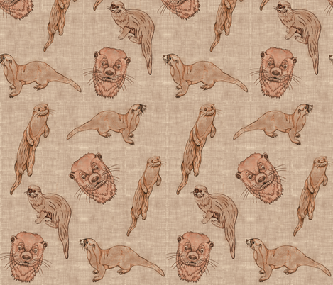 Huillin (linen, hand drawing) fabric by kirpa on Spoonflower - custom fabric