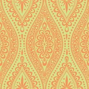 Scallopy-orange on lime