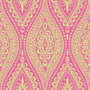 Scallopy-lime on pink