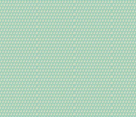 Mint and Mocha Bun Bun fabric by theten12 on Spoonflower - custom fabric