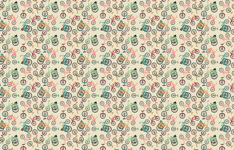 Bikes fabric by heidikenney on Spoonflower - custom fabric