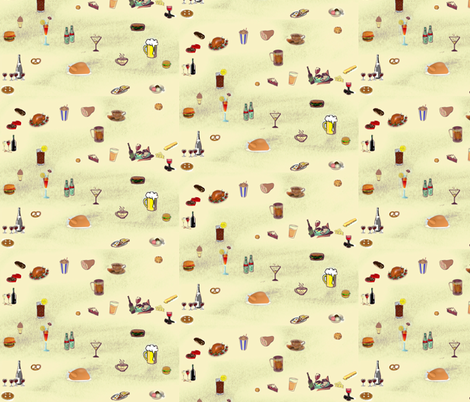 Party Time fabric by ravynscache on Spoonflower - custom fabric