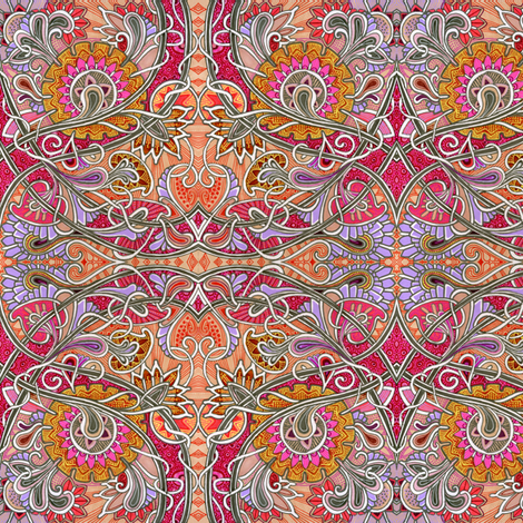 Bright Colonial Paisley and Honeysuckle Gardens fabric by edsel2084 on Spoonflower - custom fabric