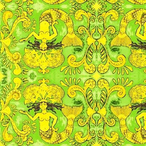 Grand Mermaids-green/gold