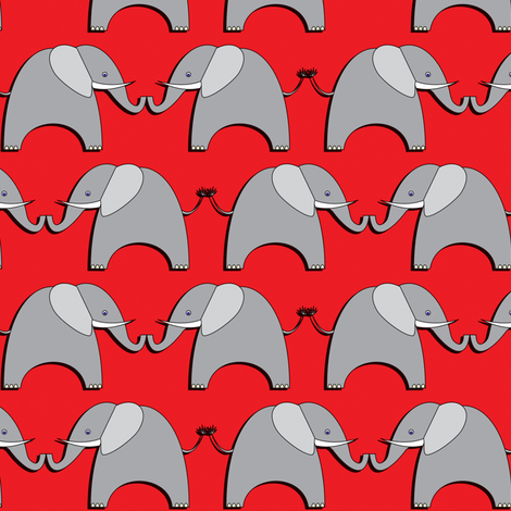 Ellifriends - red fabric by bippidiiboppidii on Spoonflower - custom fabric
