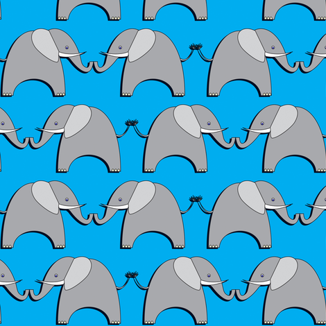 Ellifriends - blue fabric by bippidiiboppidii on Spoonflower - custom fabric