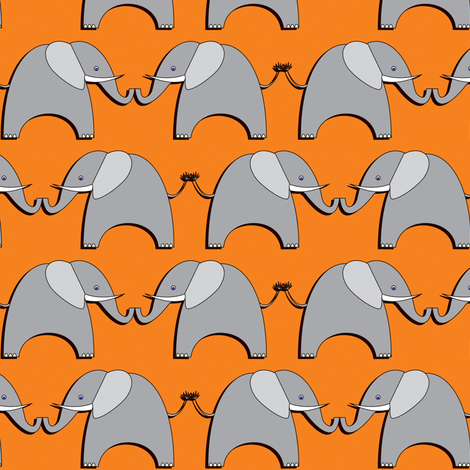 Ellifriends - orange fabric by bippidiiboppidii on Spoonflower - custom fabric