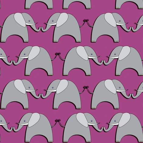 Ellifriends - purple fabric by bippidiiboppidii on Spoonflower - custom fabric