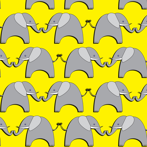 Ellifriends - yellow fabric by bippidiiboppidii on Spoonflower - custom fabric