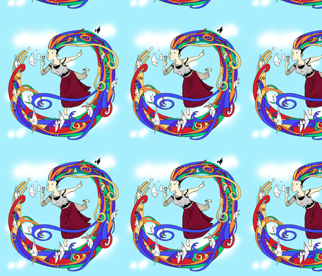 2013 Delirium Pattern by Bill Ellis fabric by amberlove on Spoonflower - custom fabric