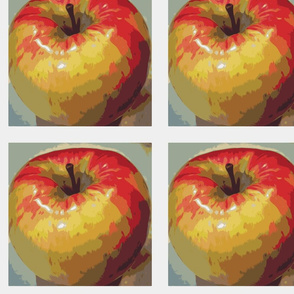 Alma Apple embroidery panels