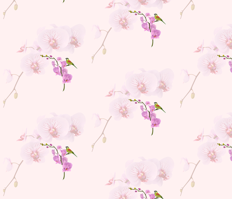 orchids fabric by krs_expressions on Spoonflower - custom fabric