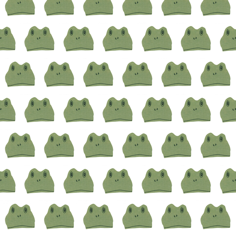 Frog half-brick fabric by ali*b on Spoonflower - custom fabric