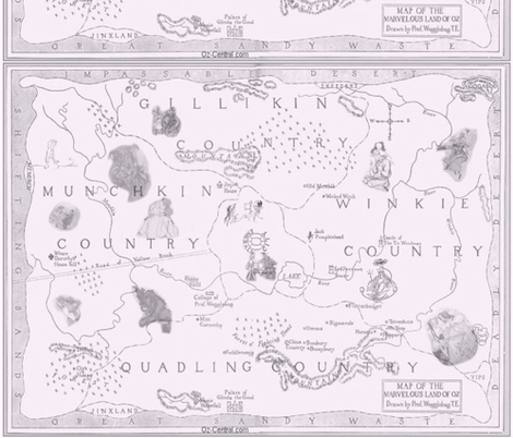 oz_map_big_with_images_2 fabric by hookedbyk on Spoonflower - custom fabric