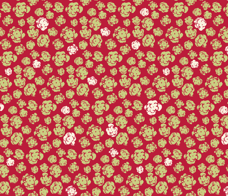 Firework Popcorn Flower Explosions. Linden / Samba / Eccru fabric by ben_goetting on Spoonflower - custom fabric