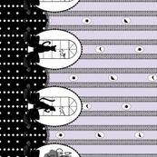 Black Cat Strut V2 - Lavender with Black Lace