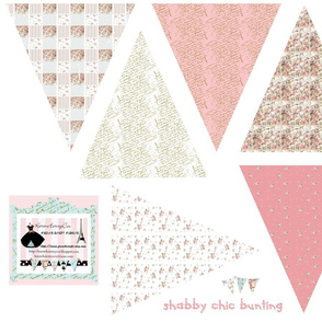 Shabby Chic small Bunting fabric