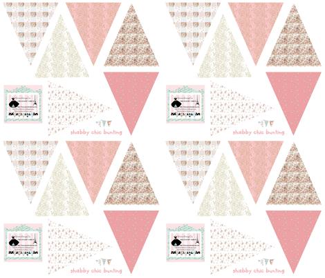 Bunting in Shabby Chic fabric by karenharveycox on Spoonflower - custom fabric