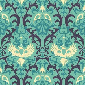 Bird Damask