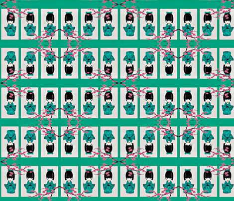 littlegeisha-ed fabric by gwillekkers on Spoonflower - custom fabric