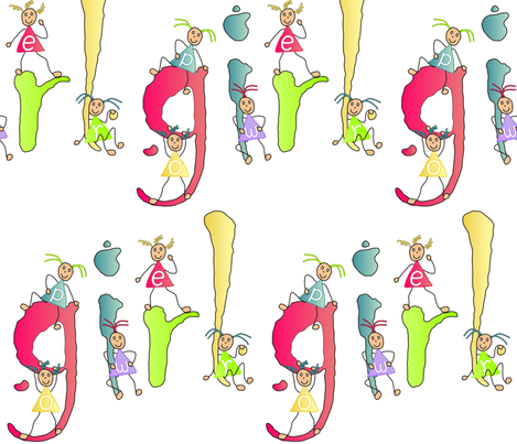 girl_power fabric by tat1 on Spoonflower - custom fabric