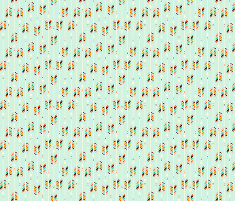 Small Arrows: Mint fabric by nadiahassan on Spoonflower - custom fabric